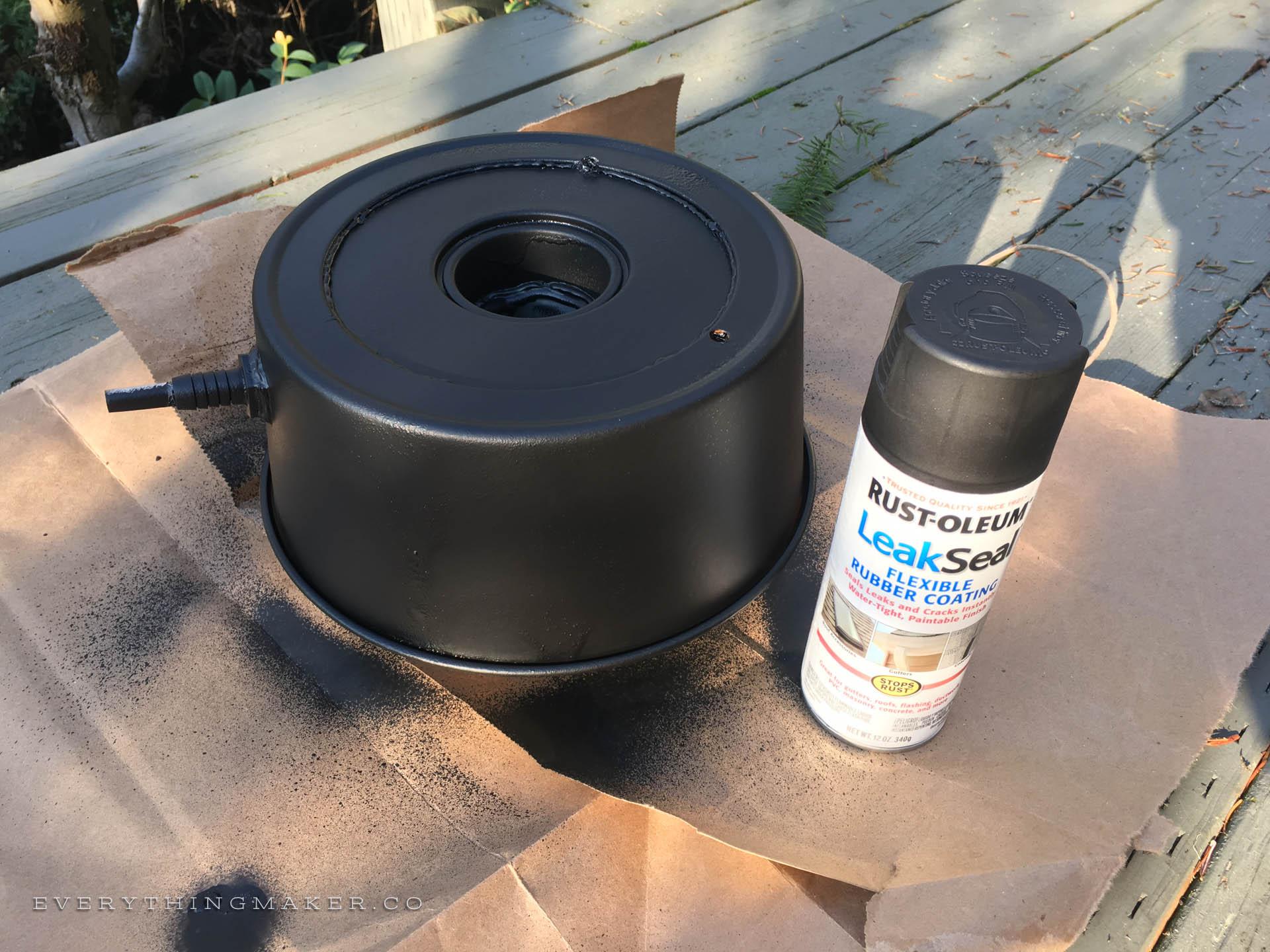 DIY Homemade Slanted Lapidary Grinding Wheel Wheel Pan